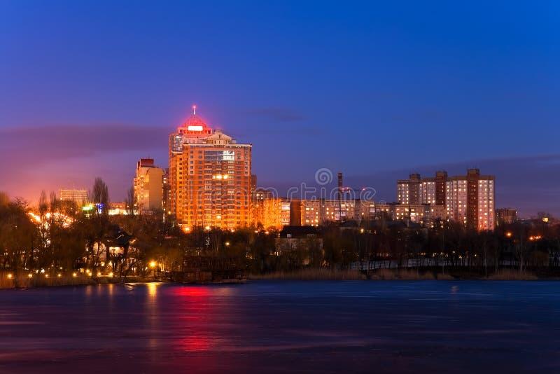 城市夜间 库存图片