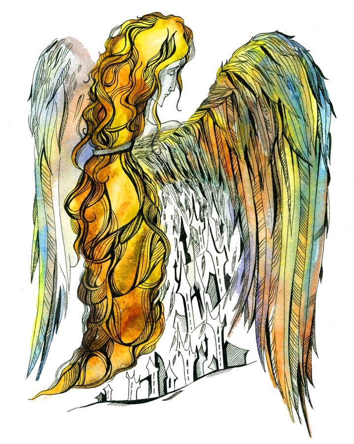 城市天使 库存图片