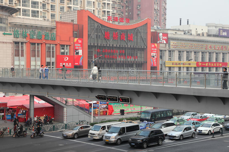 城市天桥上海 免版税库存图片