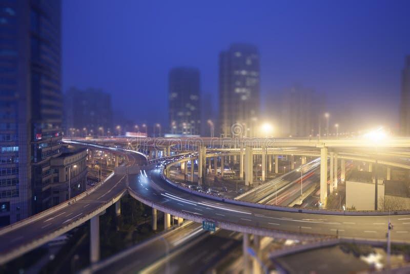 城市天桥,上海 库存照片