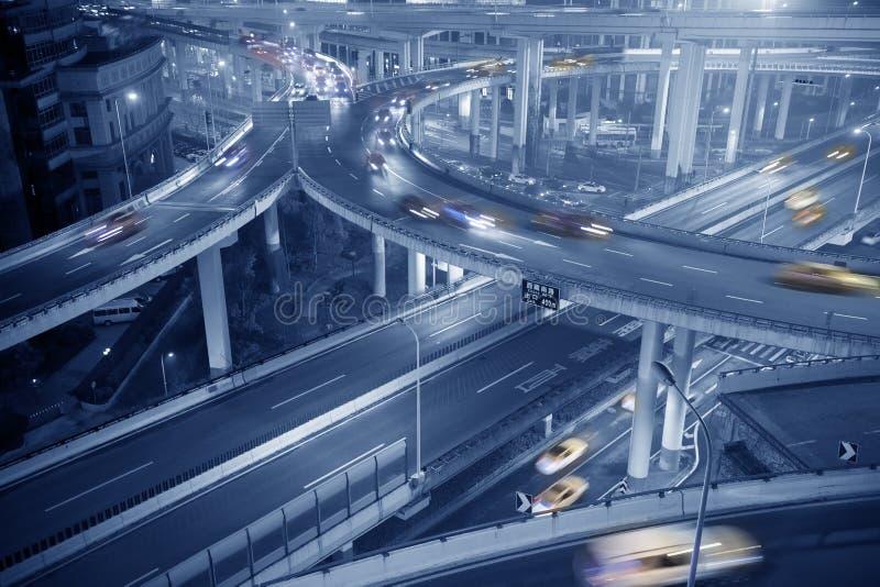 城市天桥,上海 免版税图库摄影