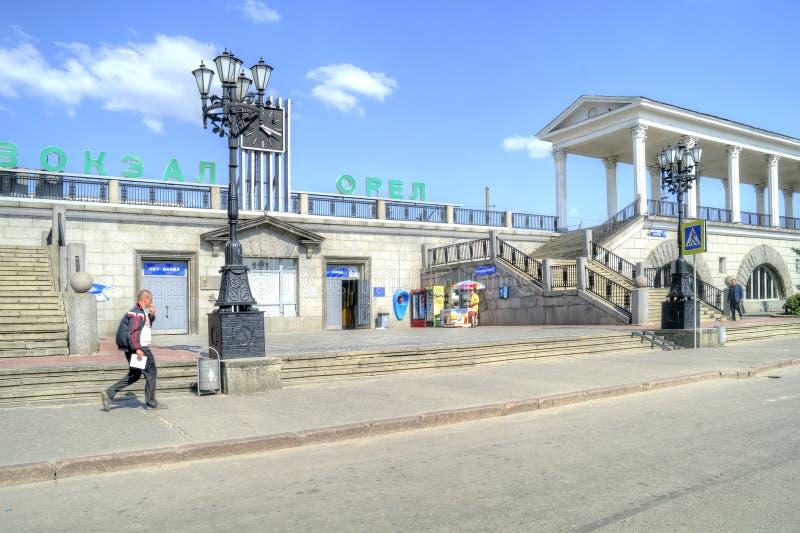 城市奥廖尔州 火车站 库存图片