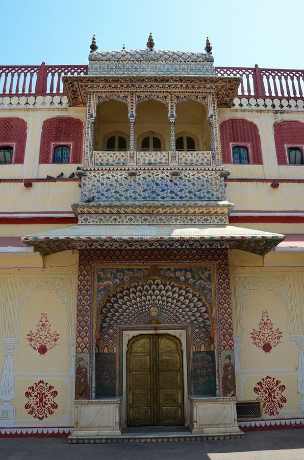 城市宫殿,斋浦尔,印度 免版税库存照片