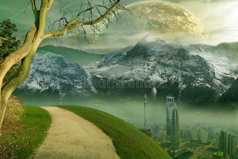 城市小说科学 向量例证