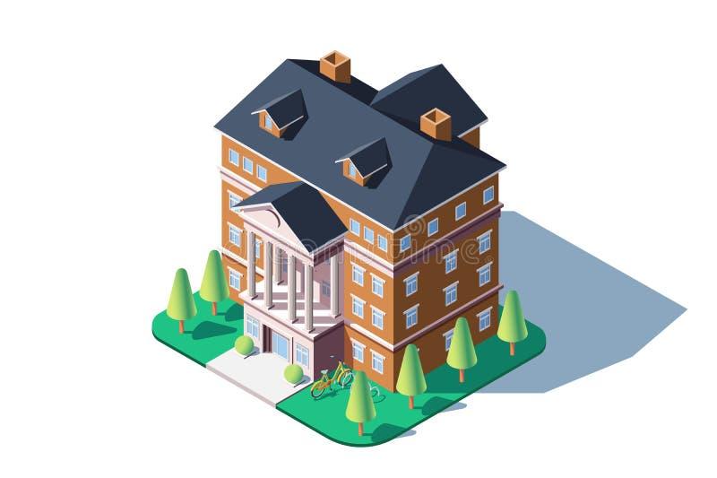 城市居民住房 向量例证