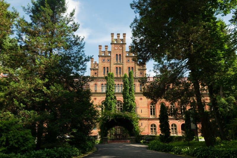 城市居民的全国大学和住所的建筑学在切尔诺夫策,乌克兰 图库摄影