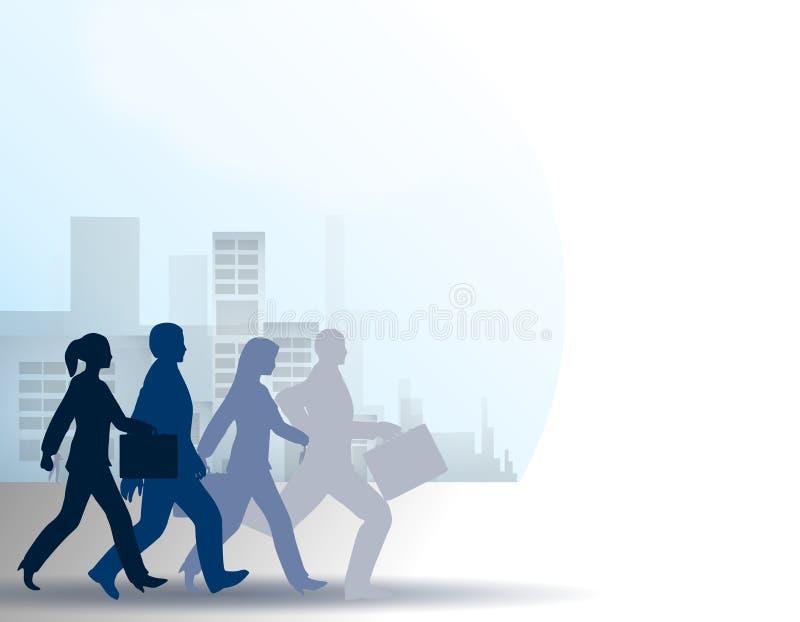 城市居民赛跑汇率 皇族释放例证