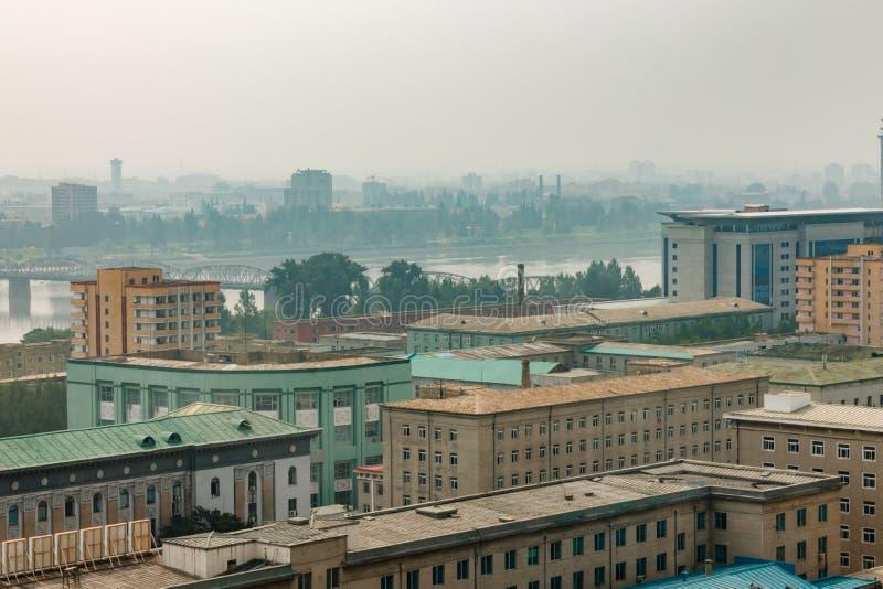 城市平壤的看法 库存图片