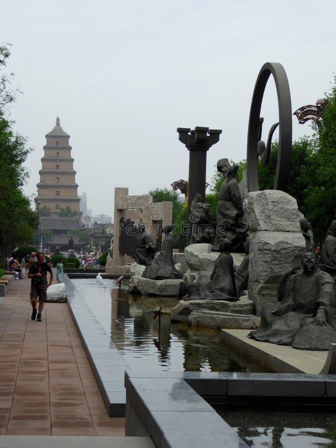 城市形象雕塑 免版税库存照片