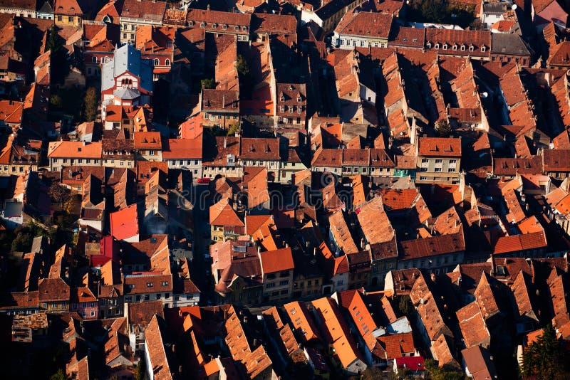 城市房子从上面 免版税库存图片