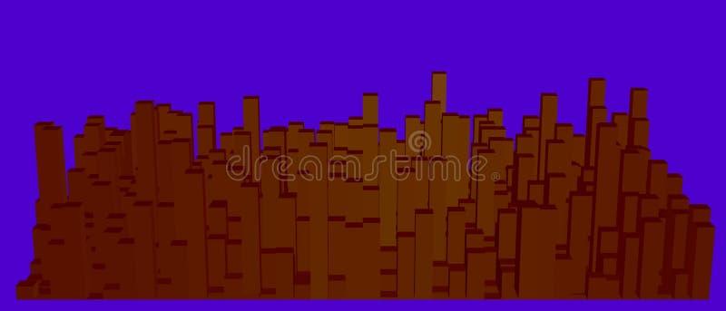 城市抽象模型  也corel凹道例证向量 库存例证