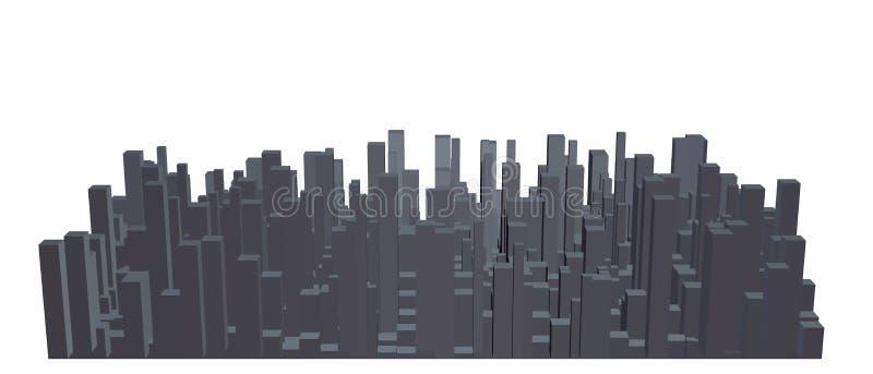 城市抽象模型  也corel凹道例证向量 向量例证