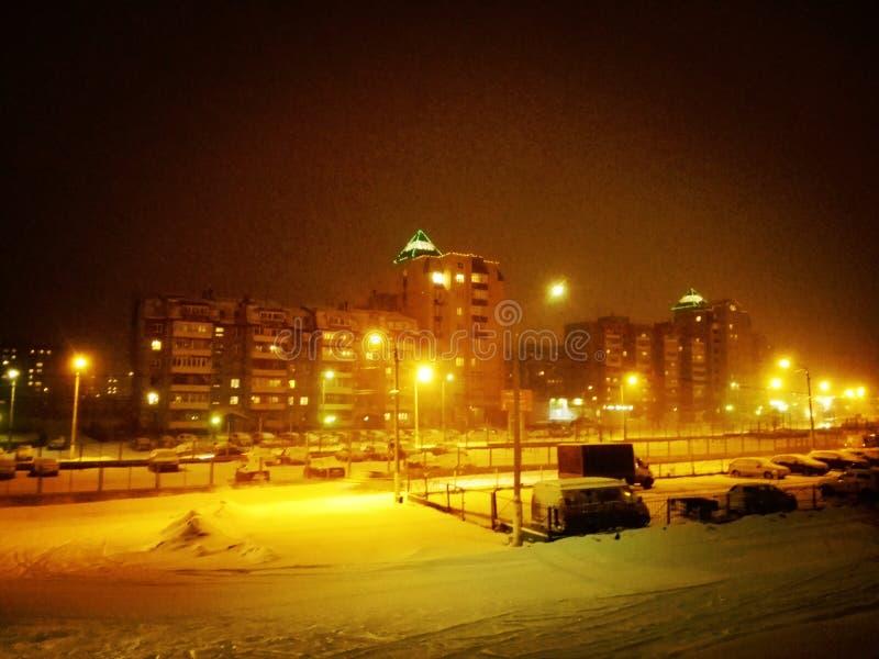 城市拉脱维亚晚上里加城镇 免版税库存照片