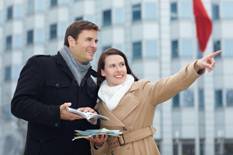 城市指南游人行程 免版税图库摄影