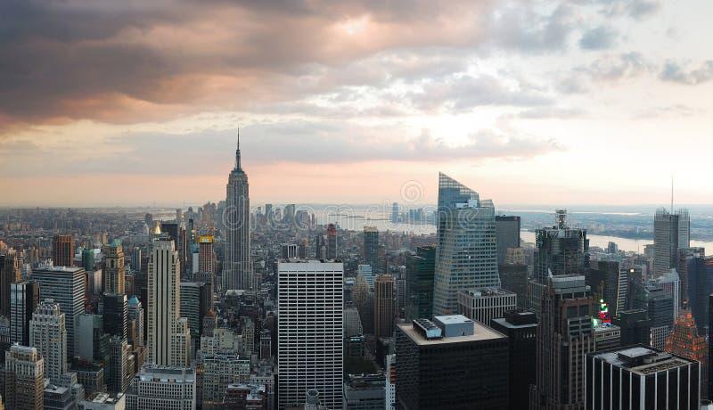 城市新的全景地平线约克 免版税图库摄影