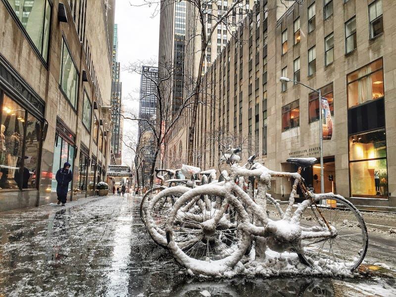 城市新的冬天约克 库存图片