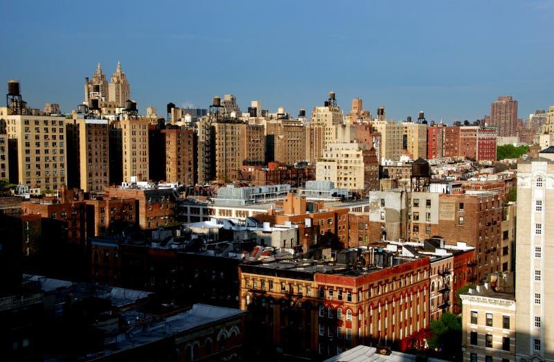 城市新的副上面的视图西方约克 免版税库存图片