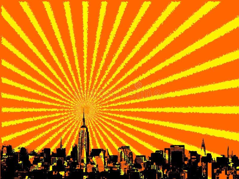 城市新的地平线约克 皇族释放例证