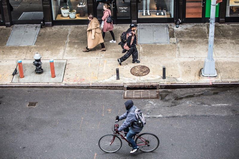 城市新的场面街道约克 免版税库存图片