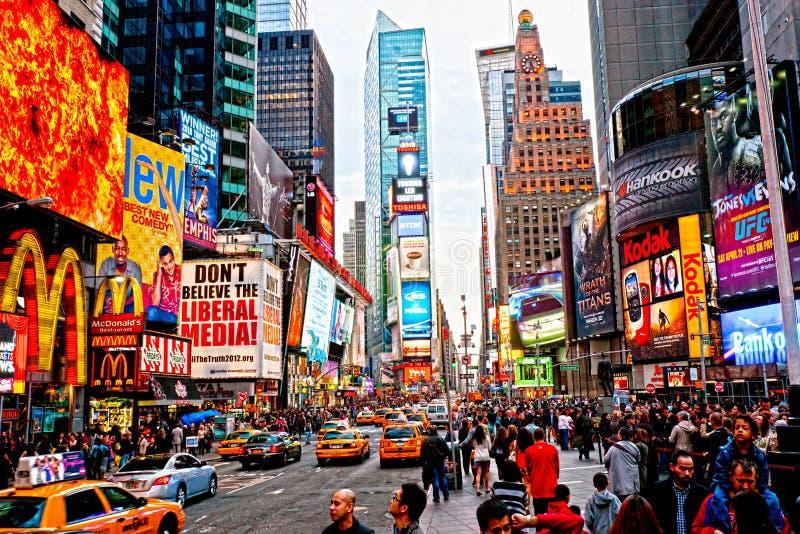 城市新的方形时间美国约克 免版税库存图片