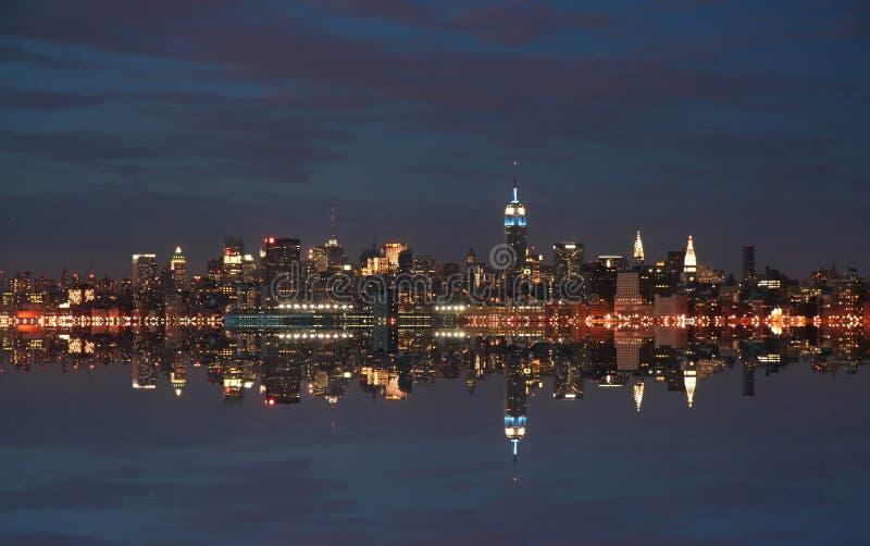 城市新的晚上地平线约克 免版税库存图片