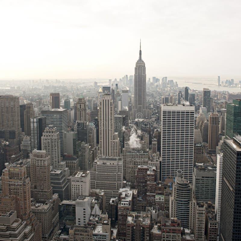 城市新的洛克菲勒地平线视图约克 免版税图库摄影