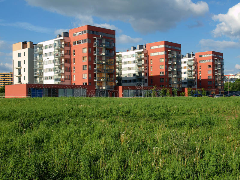 城市新的维尔纽斯 免版税图库摄影