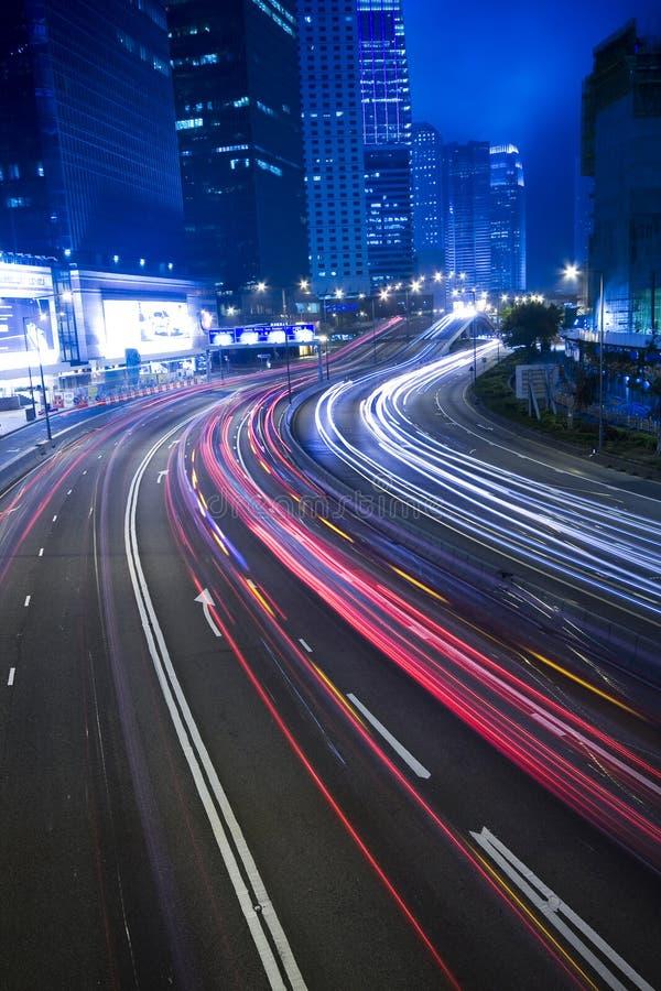城市晚上业务量 库存照片
