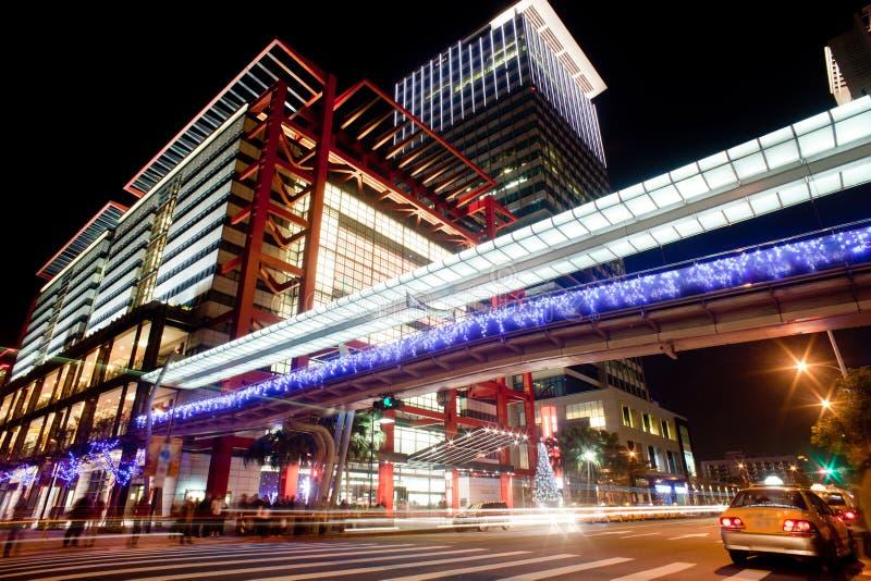 城市晚上场面台北台湾 免版税图库摄影