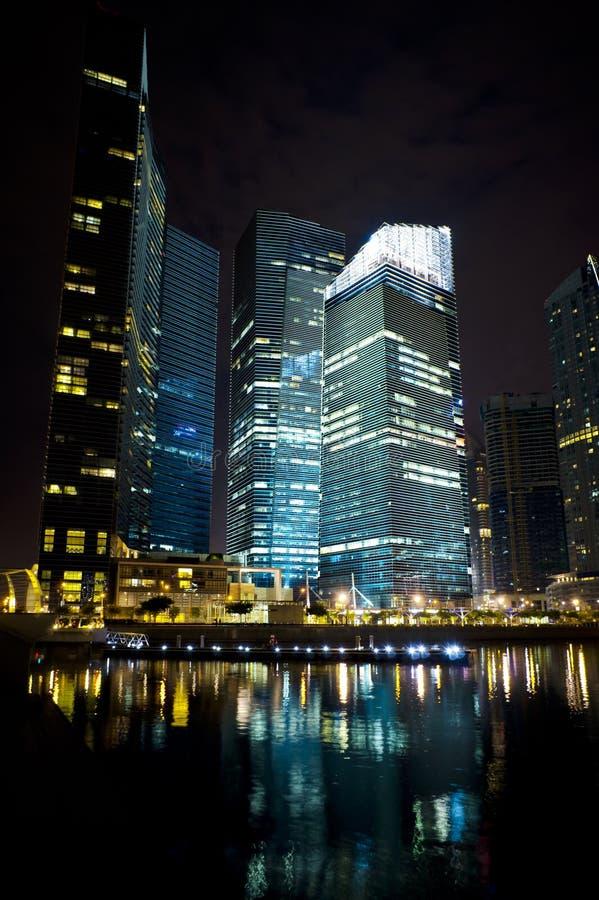 城市晚上视图 图库摄影