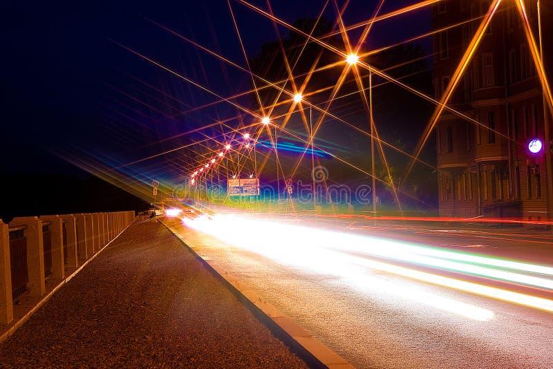 城市晚上路 免版税库存照片