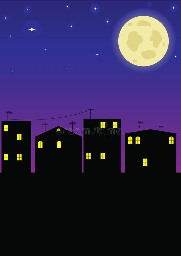 城市晚上 皇族释放例证