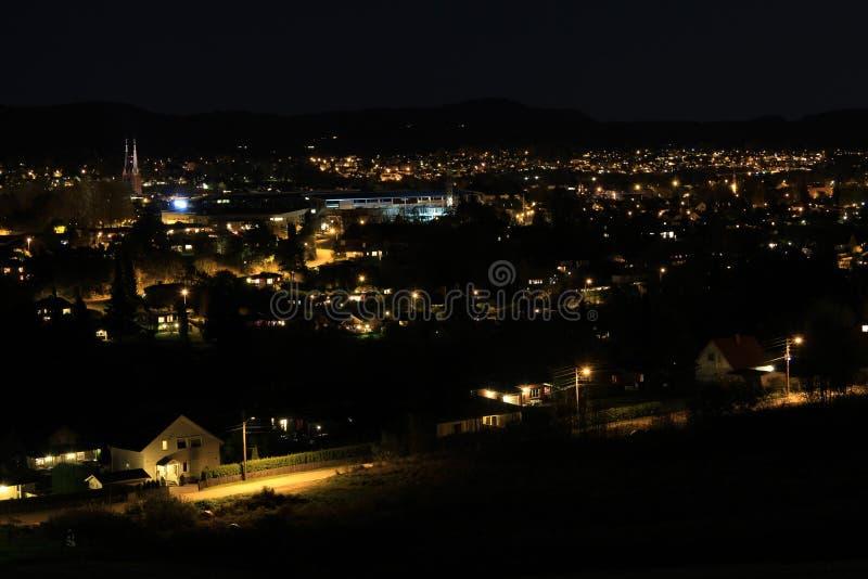 城市晚上 库存照片