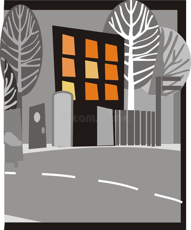 Download 城市晚上 库存例证. 图片 包括有 寂寞, 城市, 凹道, 例证, 模板, 结构树, 晚上, 布琼布拉, 灰色 - 300925