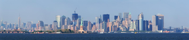 城市更低的曼哈顿新的地平线约克 图库摄影