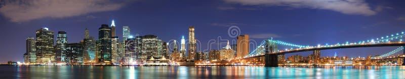 城市曼哈顿新的全景地平线约克 图库摄影