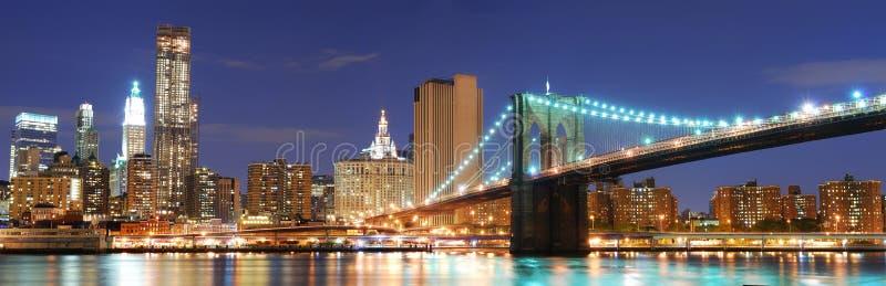城市曼哈顿新的全景地平线约克 库存照片