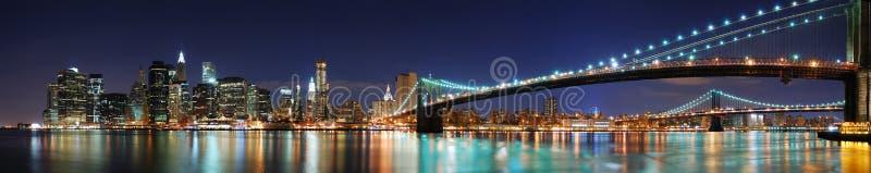 城市曼哈顿新的全景约克 库存图片