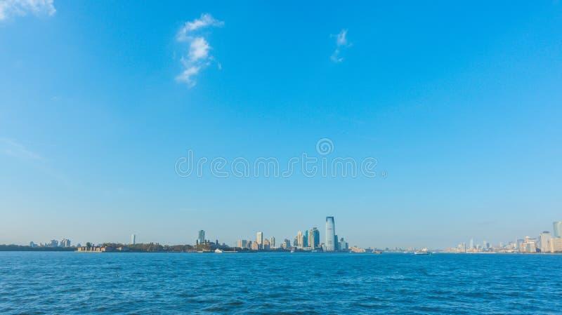城市曼哈顿新的地平线约克 美国 免版税库存照片