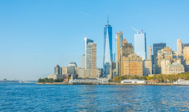 城市曼哈顿新的地平线约克 美国 免版税库存图片