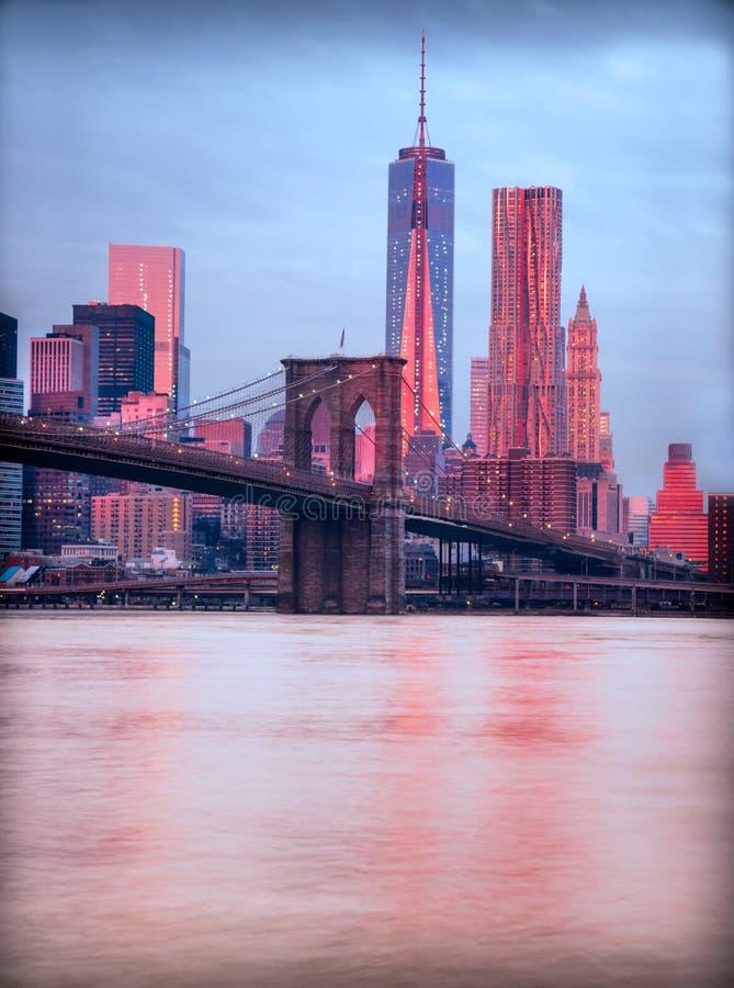 城市曼哈顿纽约 美国 免版税库存图片