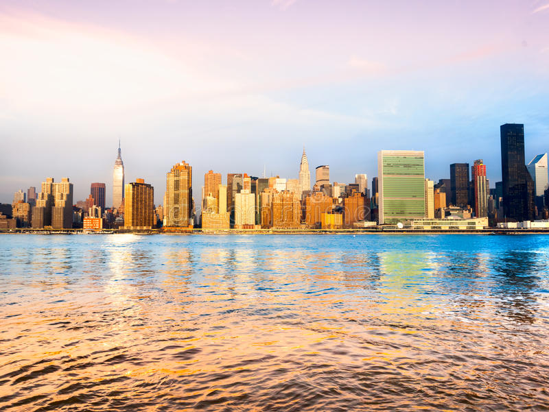 城市曼哈顿纽约 美国 库存照片