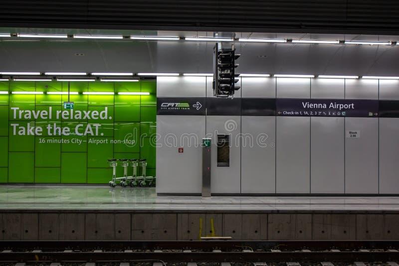 城市机场CAT火车站 免版税库存图片