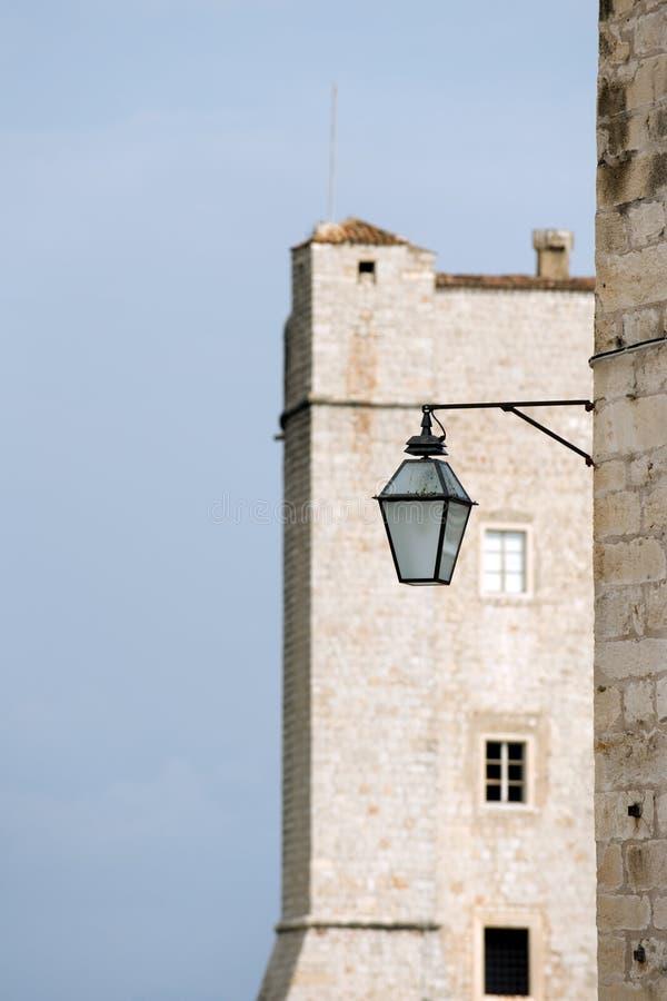 城市杜布罗夫尼克市墙壁 库存图片