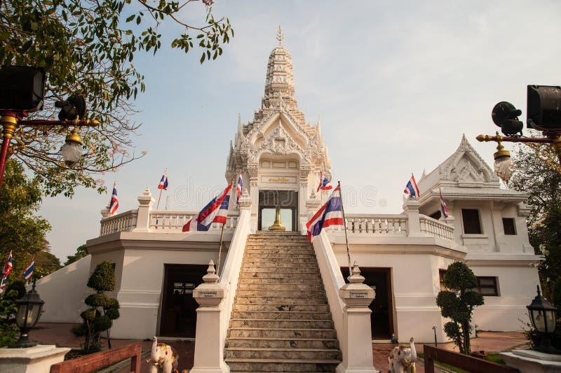 城市柱子在阿尤特拉利夫雷斯历史公园,泰国 库存图片