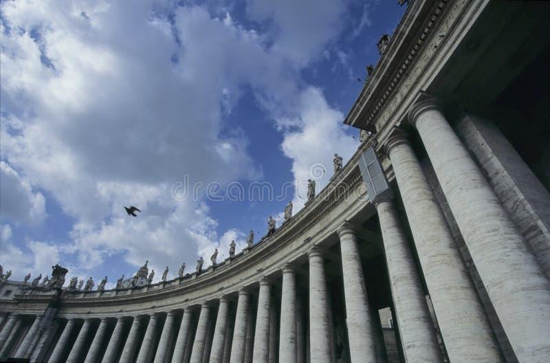 城市柱廊梵蒂冈 库存图片