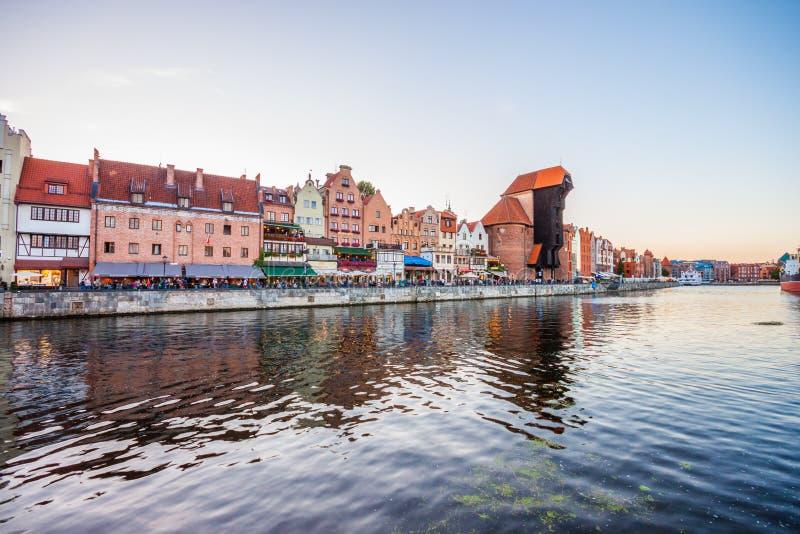 城市格但斯克老波兰 免版税库存照片
