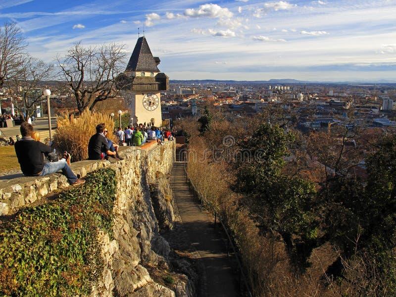 城市格拉茨 免版税库存图片