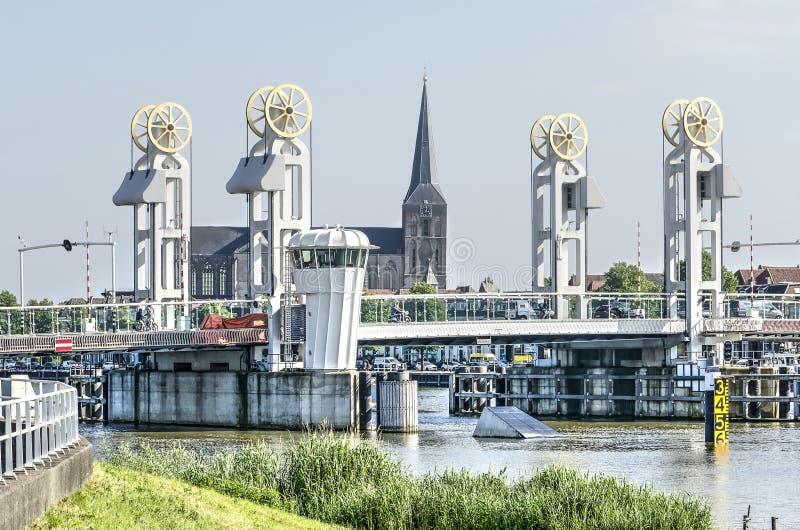 城市桥梁在坎彭 免版税图库摄影