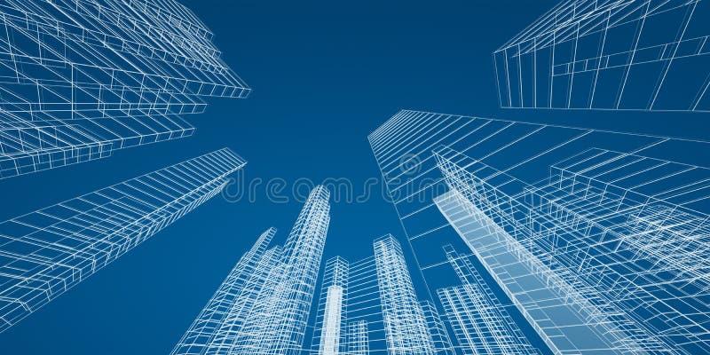 城市概念 向量例证